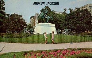 DC - Washington, Lafayette Square. Gen. Andrew Jackson Statue