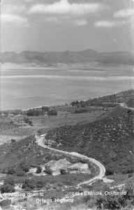 Lake Elsinore California~Ortega Highway Birdseye~1960s Real Photo Postcard~RPPC