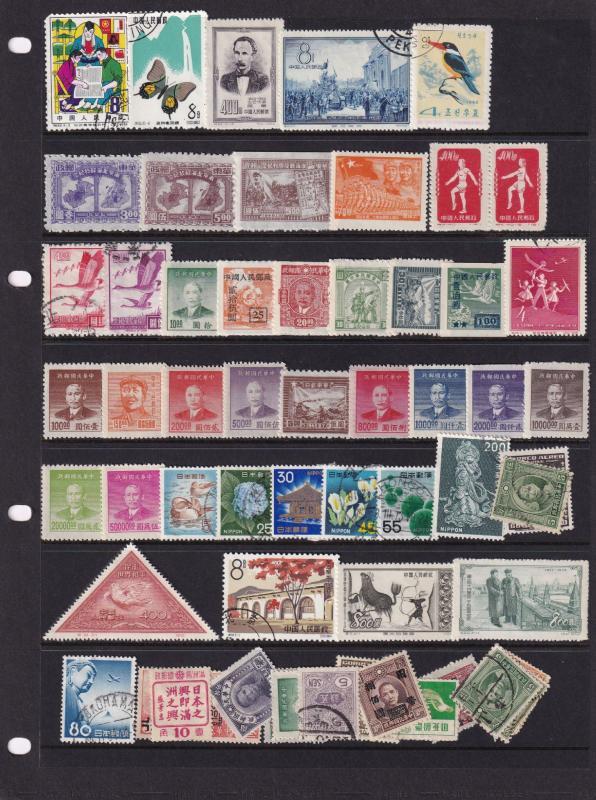 India Indian Iran Japan Asian Military Service etc Old Stamp Bundle Job Lot