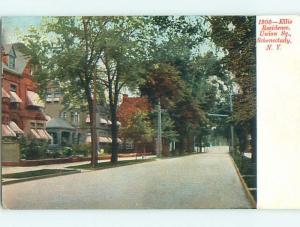 Unused Pre-1907 ELLIS HOME ON UNION STREET Schenectady New York NY t3254
