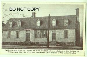 Home of John Marshall, Williamsburg VA