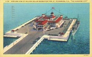USA Airplane View of Million Dollar Recreation Pier St. Petersburg Florida 04.91