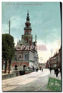 Postcard Old Town Hall Bolsward Advertisement Cocoa Blooker