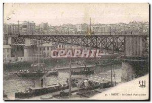 Brest - The Great Bridge Open boats - Old Postcard
