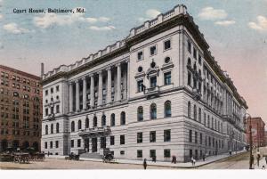 BALTIMORE, Maryland, PU-1914; Court House