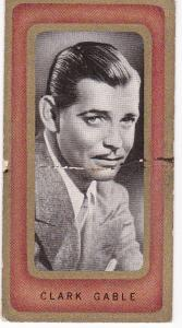 Cigarette Cards Carreras FILM FAVOURITES No 1 Clark Gable