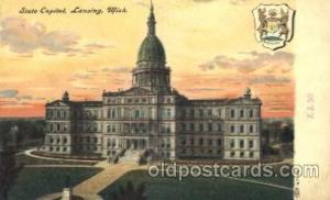 Lansing, Michigan, Mi, USA State Capitol, Capitols Postcard Post Card  Lansin...