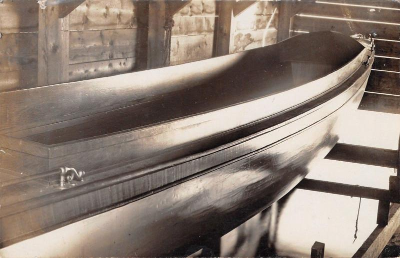 RPPC Picture of Fair Grace Boat in Jethro Gibbs Basement? 26-Foot, 15 MPH 1915