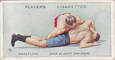 Cigarette Card Player and Sons Wrestling & Ju-Jitsu 1913 No 9 Leg Hold and Ha...