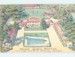 Linen-Like MERRY ACRES MOTEL Albany Georgia GA ho5114