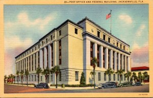 Florida Jacksonville Post Office and Federal Building Curteich