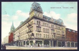 Boody House Hotel Toledo OH used c1909