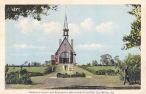 Exterior, Memorial Church and Evangeline Monument,Grand Pre,Nova Scotia,Canad...