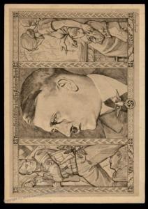 3rd Reich Germany Hitler 1932 NSDAP Battle Fund Donation Propaganda Postca 90990