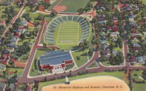 North Carolina Charlotte Memorial Stadium & Armory 1952 Curteich