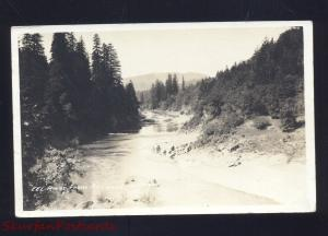 RPPC REDWOOD HIGHWAY CALIFORNIA EEL RIVER VINTAGE REAL PHOTO