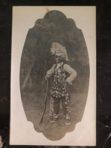 Mint RPPC Real Picture Postcard Native American Indian Chief Portrait