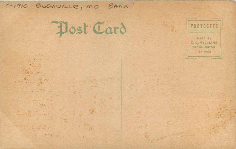 Boonville Missouri Bank C-1910 Citizens Trust Bank postcard 20