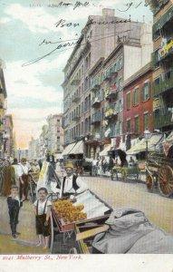 NEW YORK CITY, New York, 1908; Mulberry Street