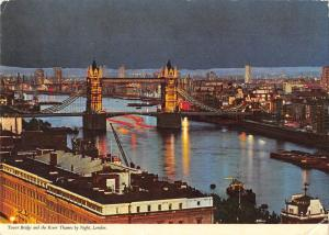 B101849 tower bridge and the river thames by night london   uk