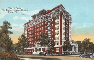 Kansas City Missouri~St Regis Hotel~Paseo at Linwood Blvd~1910 Hall Bros PC