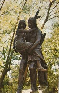 Minnesota Minneapolis Minnehaha and Hiawatha Statue Minnehaha Park