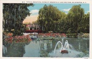 North Carolina Wilmington Typical Beautiful Scene At Greenfield Lake And Park