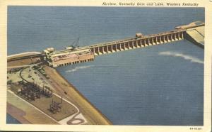 Kentucky Dam and Lake - Western Kentucky - pm 1948 - Linen