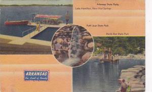 Arkansas State Parks, Lake Hamilton, near Hot Springs, Arkansas, PU-1946