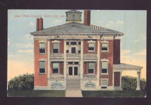 WEBB CITY MISSOURI JANE CHINN HOSPITAL ANTIQUE VINTAGE POSTCARD MO. 1913