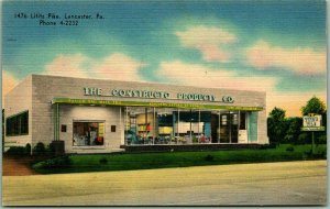 1940s Lancaster, Pennsylvania Linen Postcard CONSTRUCTO PRODUCTS CO. Store View