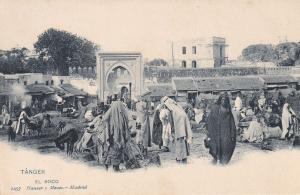 Tanger El Soco Morocco Markets Old Postcard