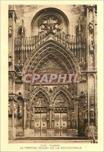Old Postcard Thann The West Portal of the Cathedral