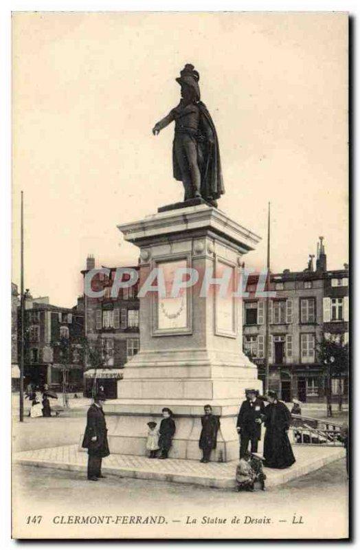 Old Postcard Clermont Ferrand statue of Desaix