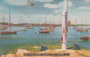 Rhode Island Brentons Cove Newport Fort Adams Vintage Postcard