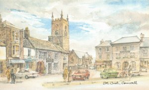 Art Postcard, St Just, Cornwall by David Skipp AJ9