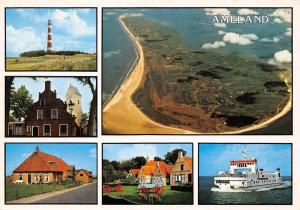 Netherlands Ameland different aspects, lighthouse, panorama, ship schiff