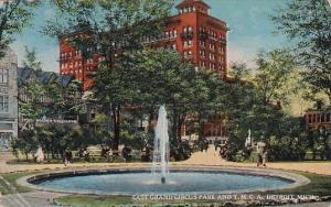 Michigan Detroit East Grand Circus Park And Y M C A 1920