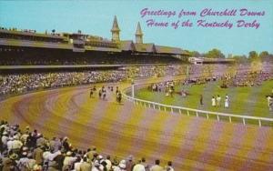 Kentucky Louisville Greetings From Churchill Downs Home Of Kentucky Derby