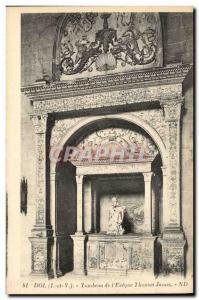 Postcard Ancient Tomb of Dol & # 39eveque Thomas James