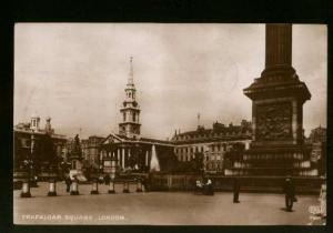 Real Photo View Of Trafalgar Square, London - Used 1917 - Slight Corner Crease