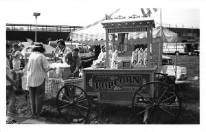 Popcorn Wagon in 1985 Old Cars Real Photo Postcard