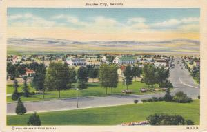 BOULDER CITY, Nevada, 1930-1940's; Aerial View