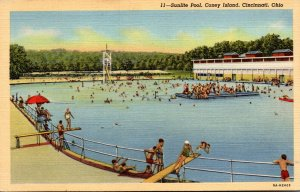Ohio Cincinnati Coney Island Sunlite Pool Curteich