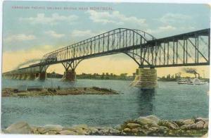 D/B Canadian Pacific Railway Bridge Montreal Quebec w/Train