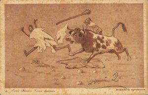 Morocco Caricature Funny Humor 1920´s Estar farruko como demonio Melilla 04.58