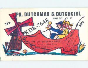 comic - QSL CB HAM RADIO CARD Denham Springs Louisiana LA ho4438