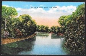 Big Sioux River Sioux City Iowa Unused c1940s