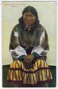 Eskimo Maid of Keewalik, Cape Prince of Wales, Alaska