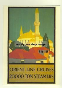 ad2196 - Orient Line Cruises - modern poster advert postcard